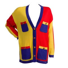 1980s Escada by Margaretha Ley Multicolour Cardigan