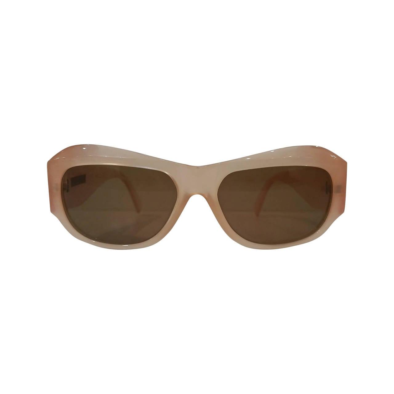 519996faae 1980s Gianni Versace peach sunglasses For Sale. 1980s Gianni Versace peach  sunglasses never used