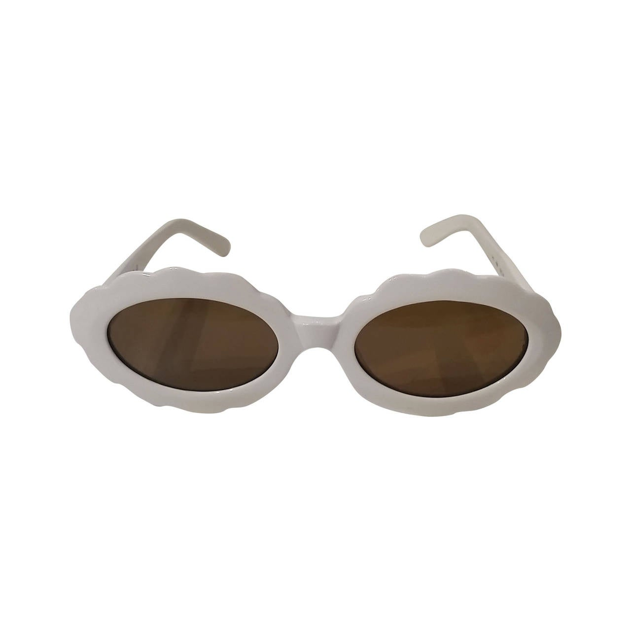 1980s Moschino by Persol white sunglasses For Sale