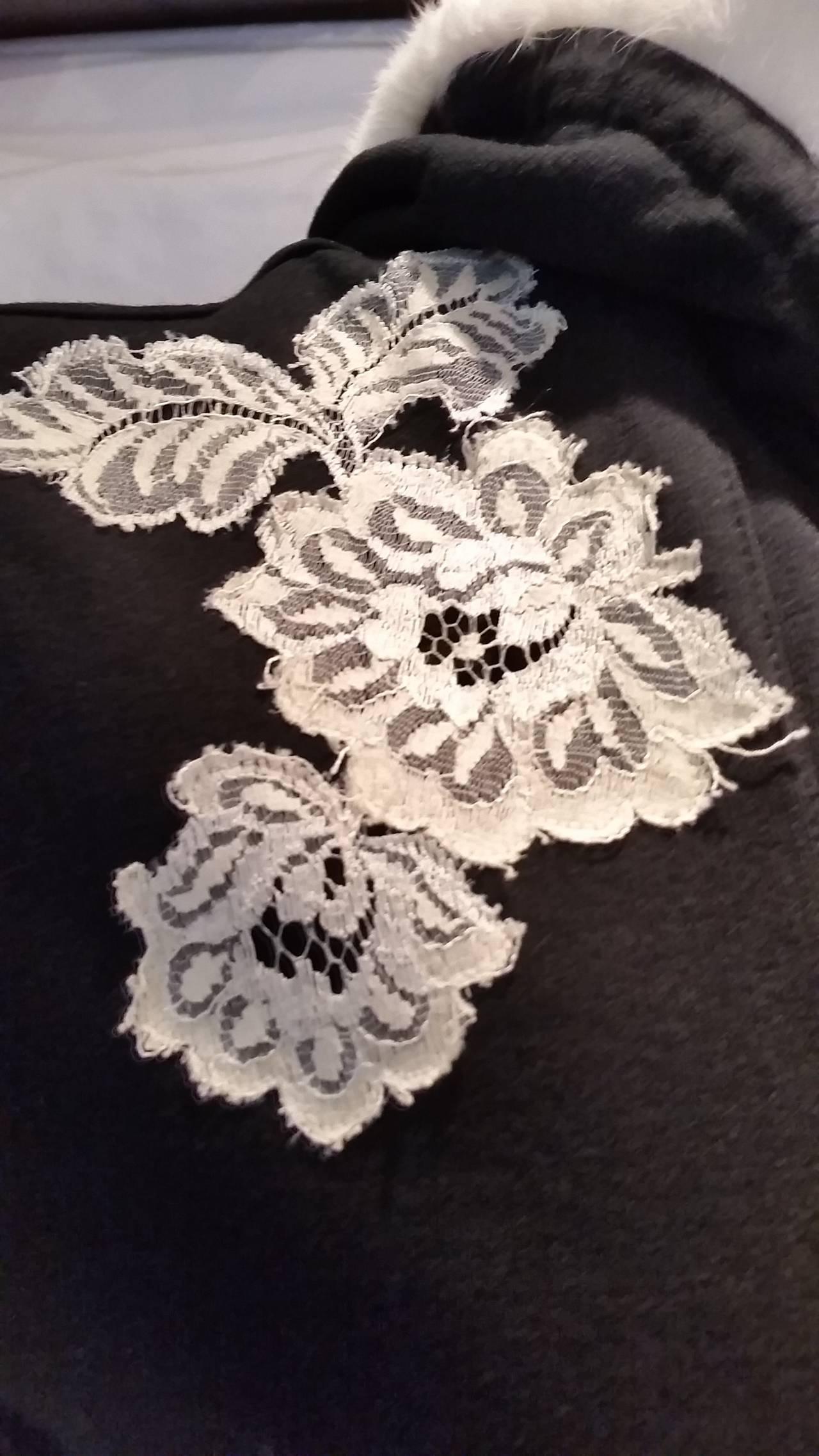 Black 2000s John Galliano black and white sweater For Sale