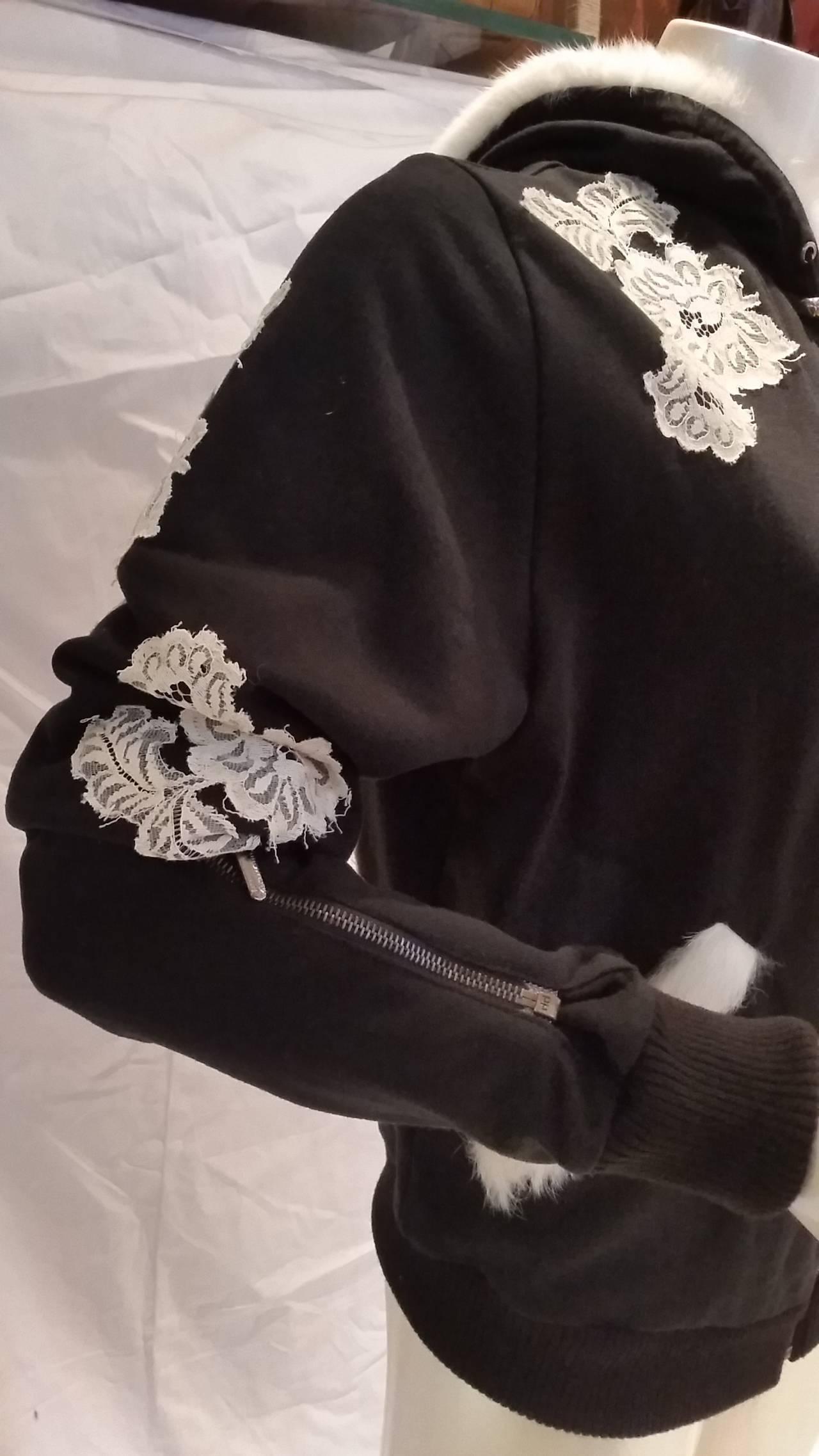 Women's 2000s John Galliano black and white sweater For Sale