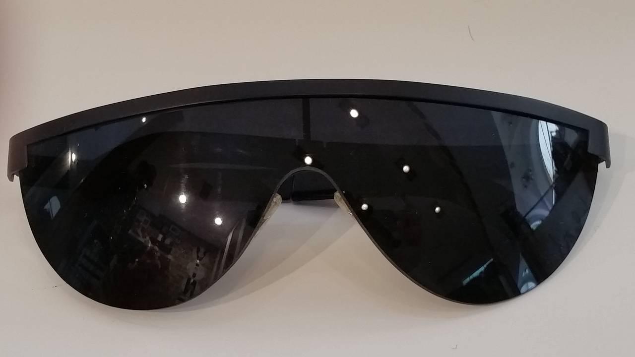 1980s Gianfranco Ferre black sunglasses 2