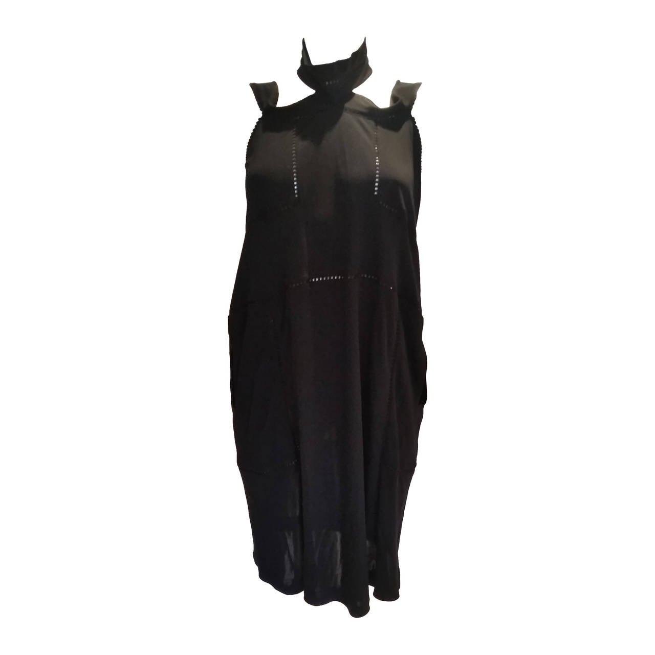 2007 Saint Laurent rive gauche black dress 1