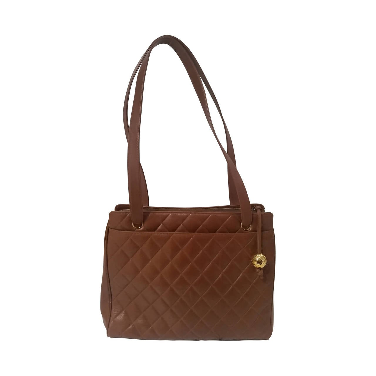 1991s Chanel brown leather bag