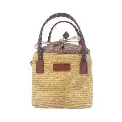2000S Fendi straw small bag