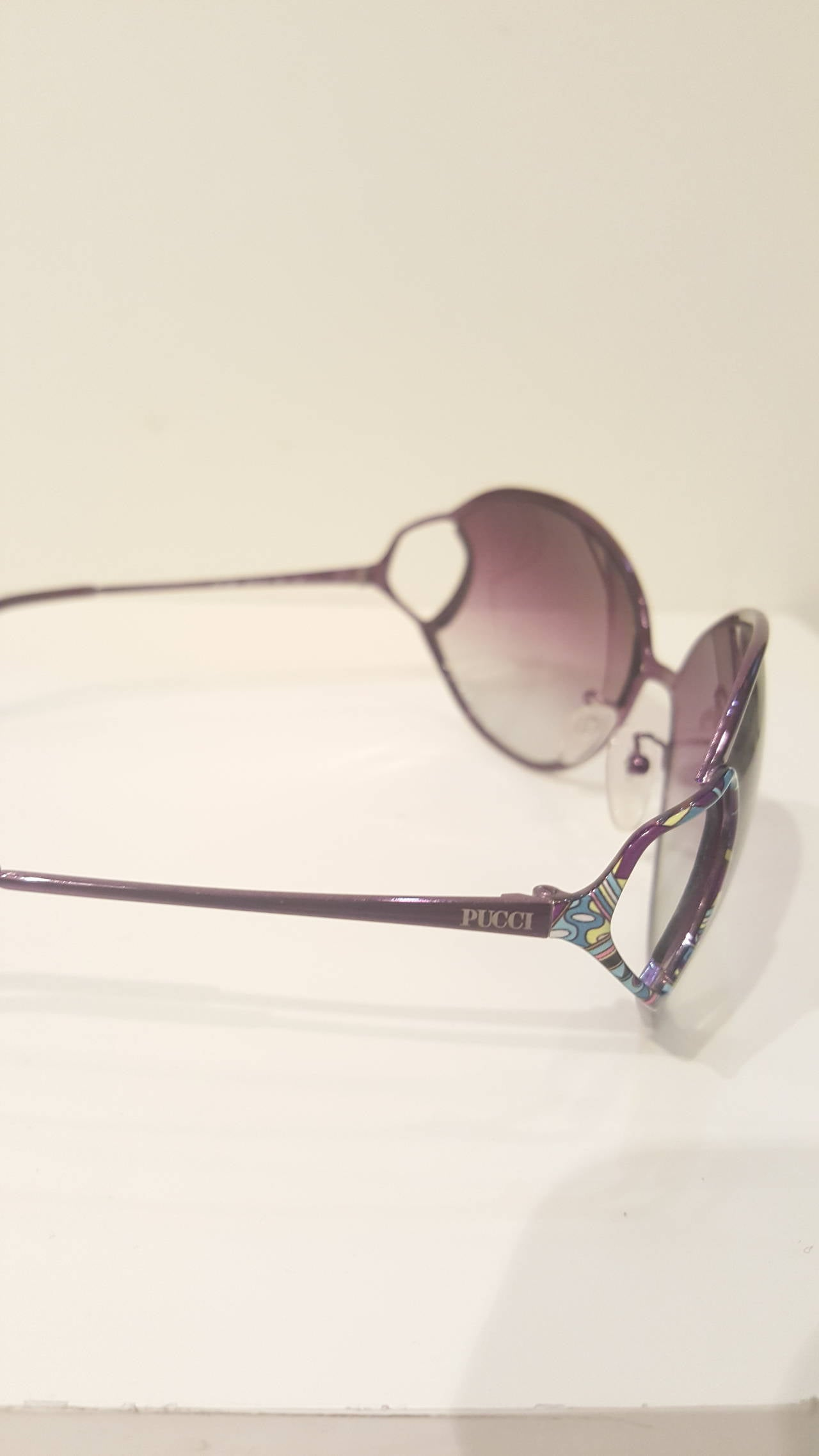 Women's 1990s Emilio Pucci purple sunglasses For Sale