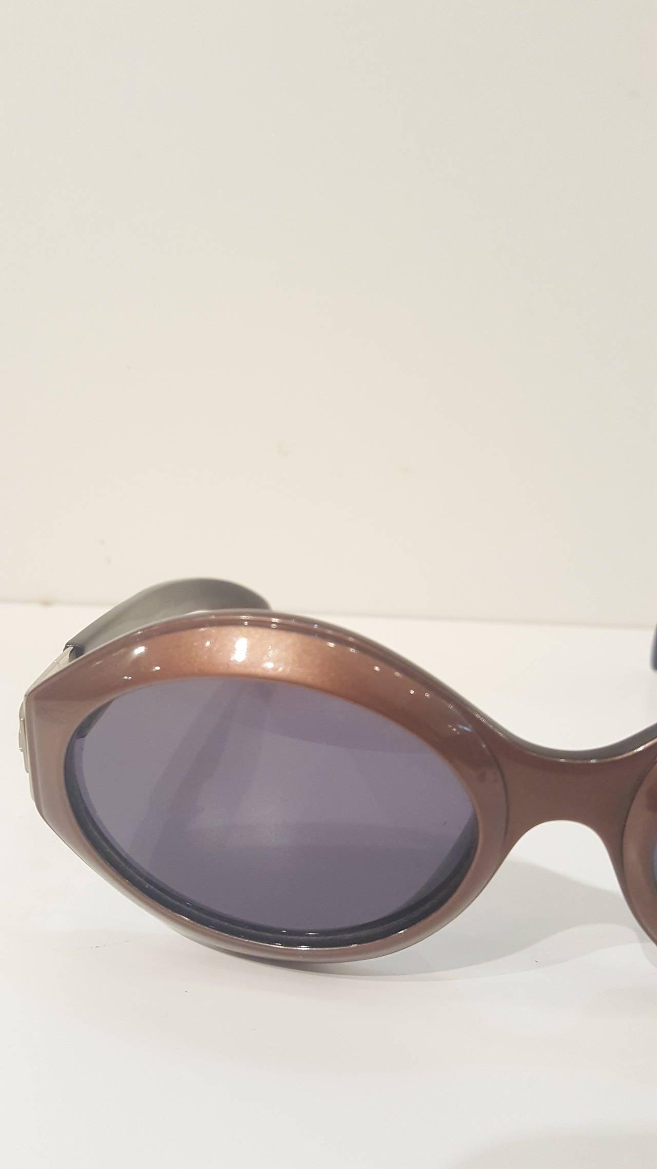 Gray 1980s Escada brown sunglasses For Sale