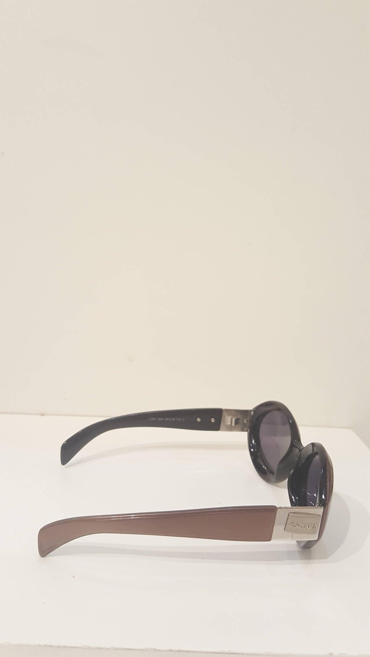 1980s Escada brown sunglasses In Excellent Condition For Sale In Capri, IT