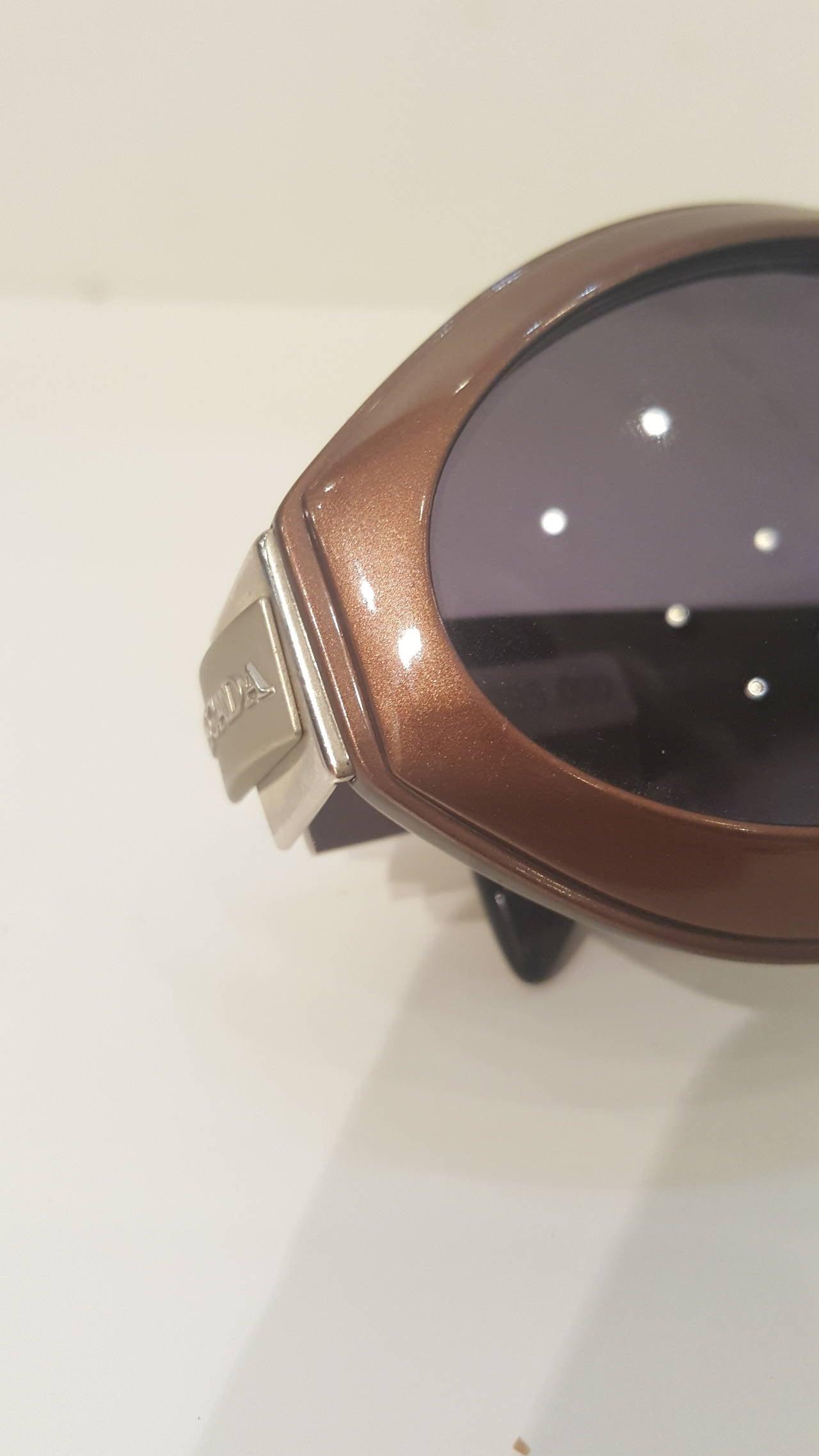 1980s Escada brown sunglasses For Sale 1