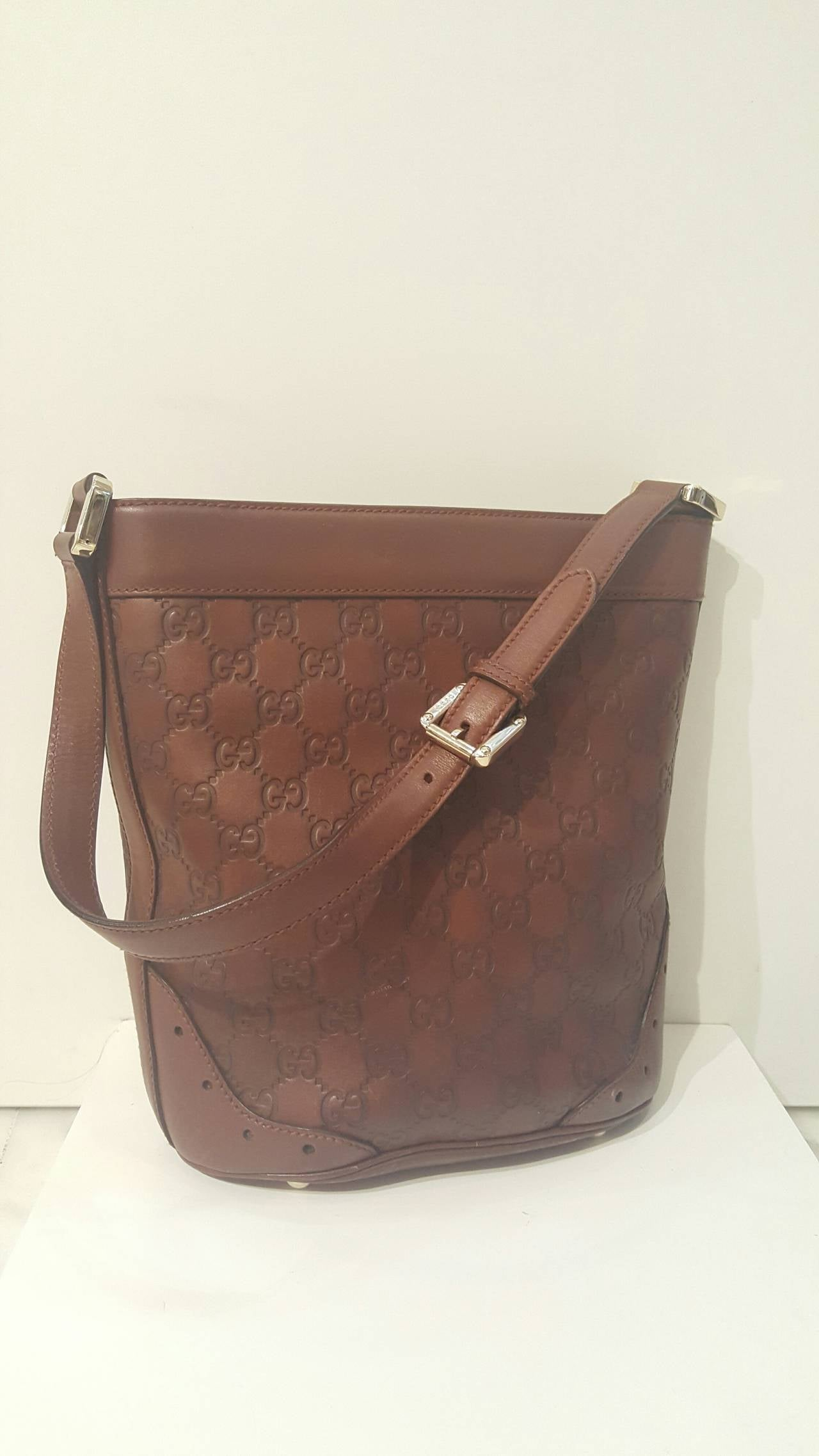 1990s Gucci Brown Leather Bag At 1stdibs