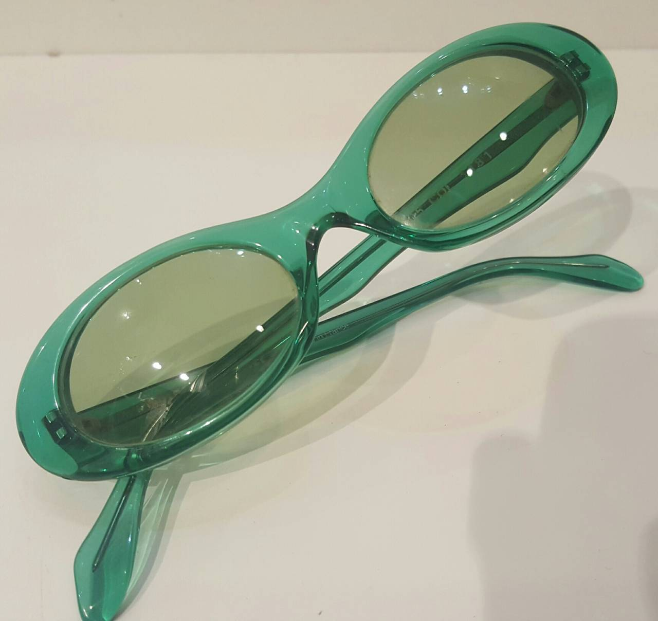 1980s Sonia Rykiel green sunglasses 2