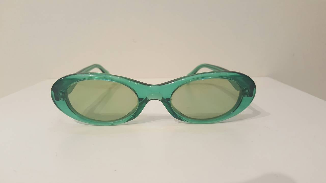 1980s Sonia Rykiel green sunglasses 3