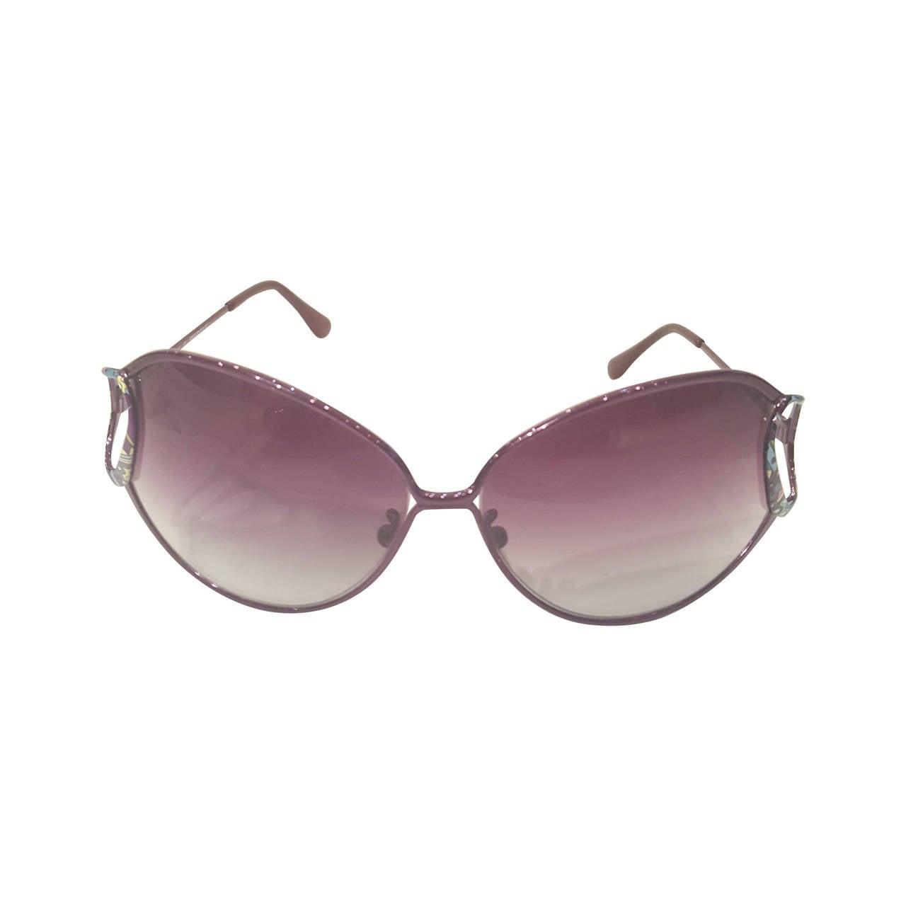 1990s Emilio Pucci purple sunglasses For Sale