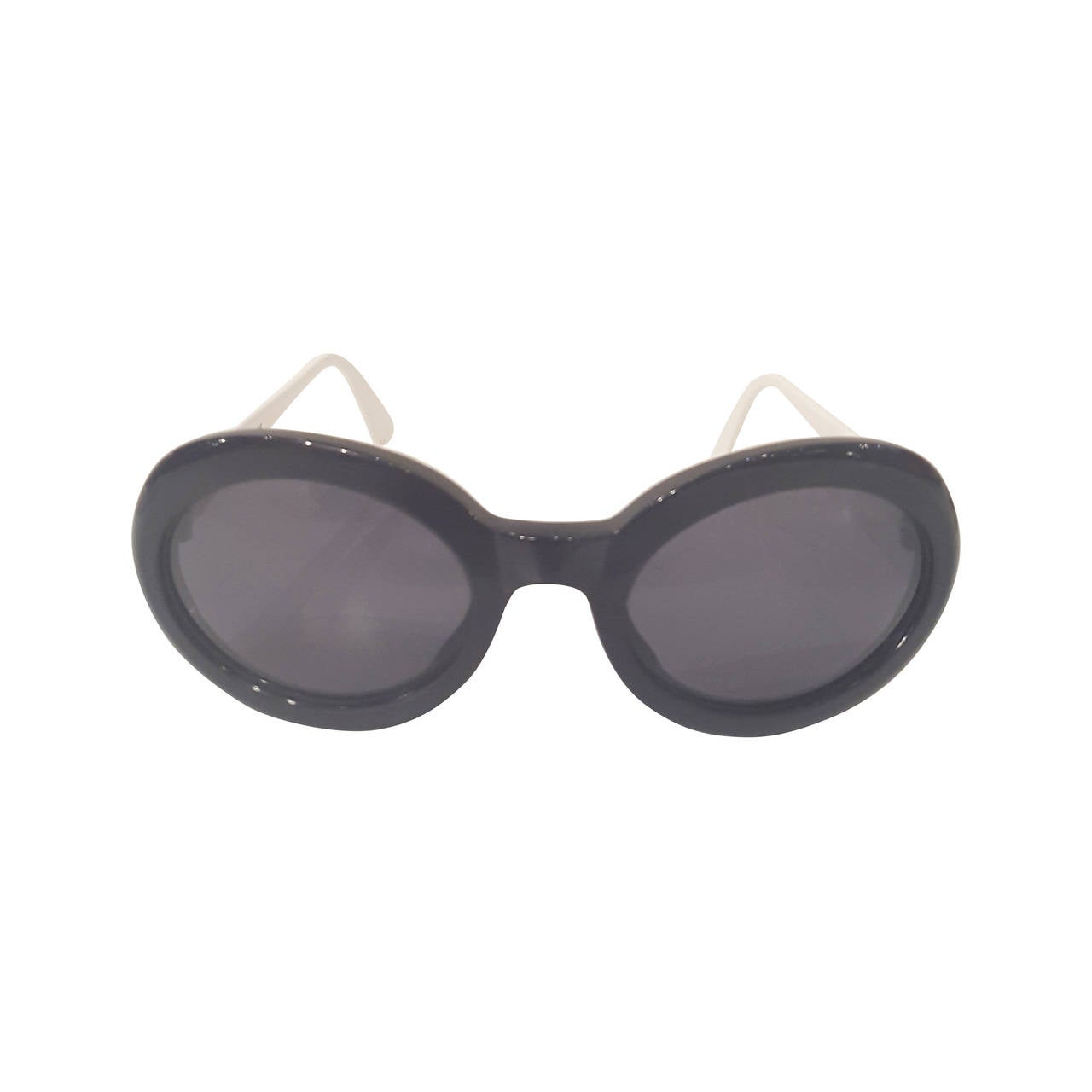 1980s Valentino Balck and dark blue navy sunglasses For Sale