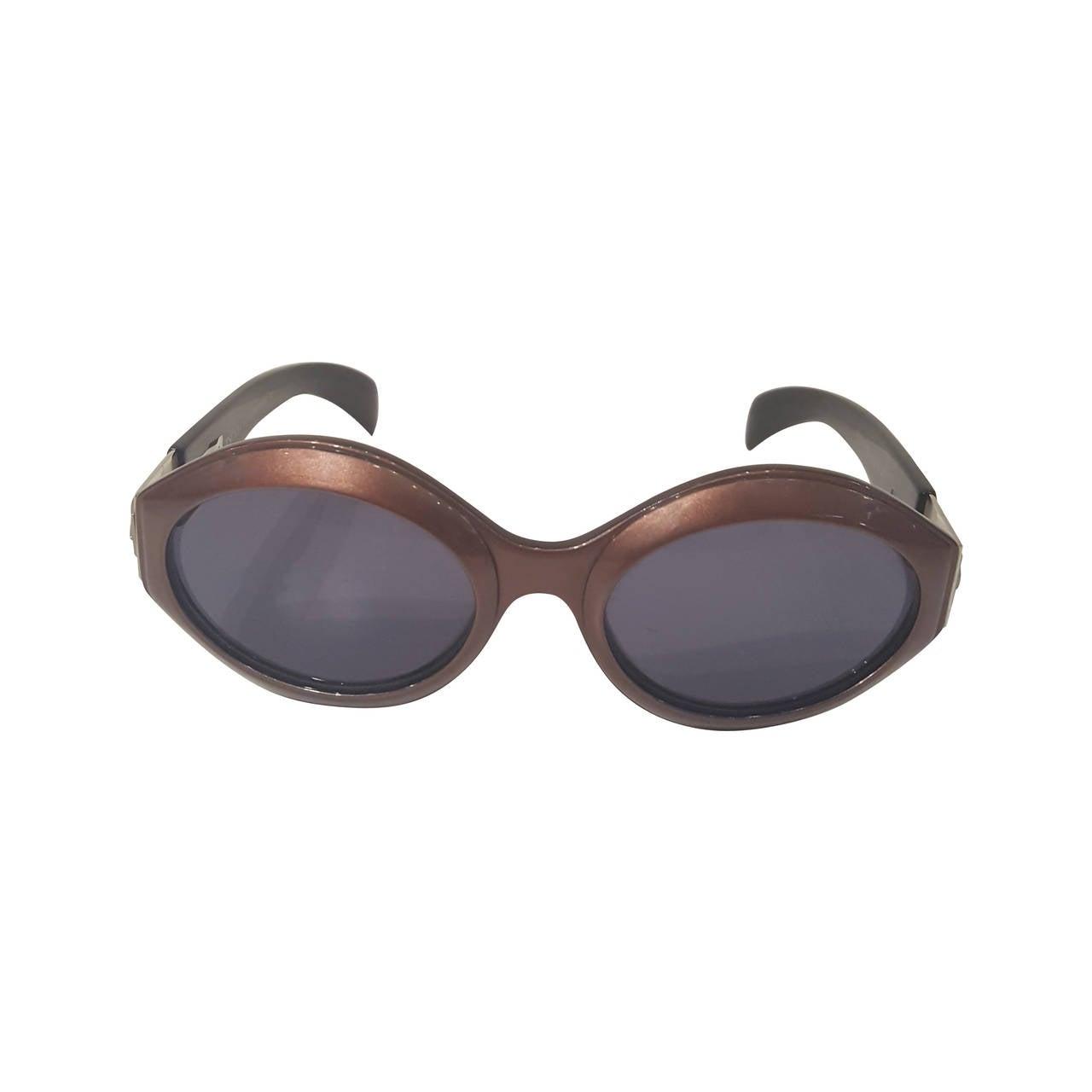 1980s Escada brown sunglasses For Sale