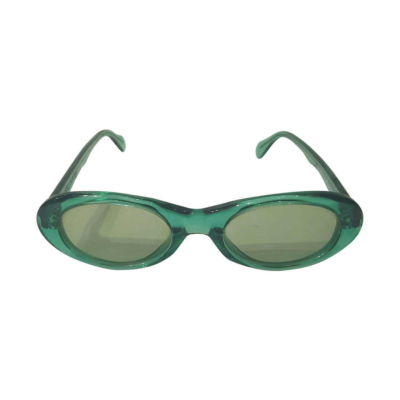 1980s Sonia Rykiel green sunglasses 1