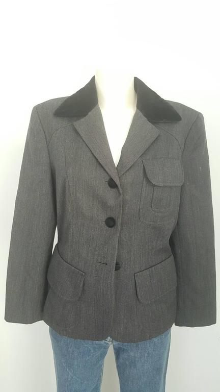 Gray 1990s Moschino Cheap & Chic grey jacket For Sale