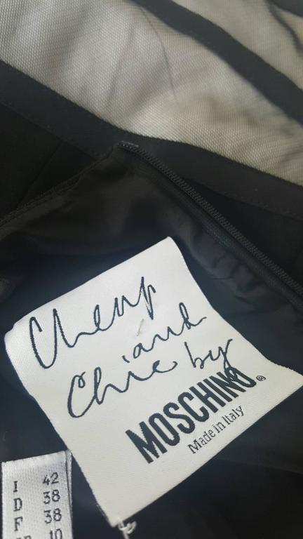 1990s Moschino Cheap & Chis black dress For Sale 2