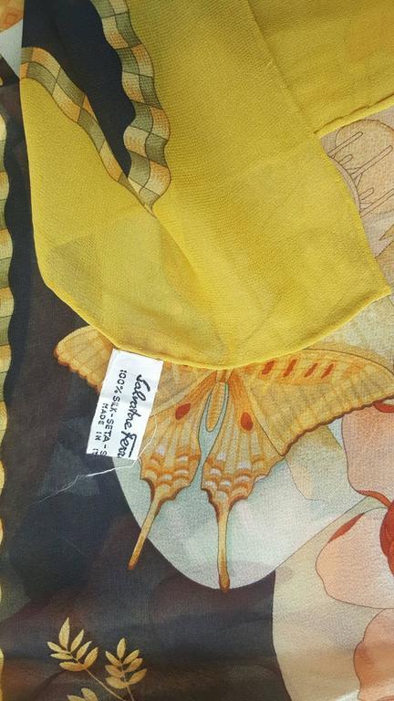 1980s Salvatore Ferragamo multicolour foulard 4