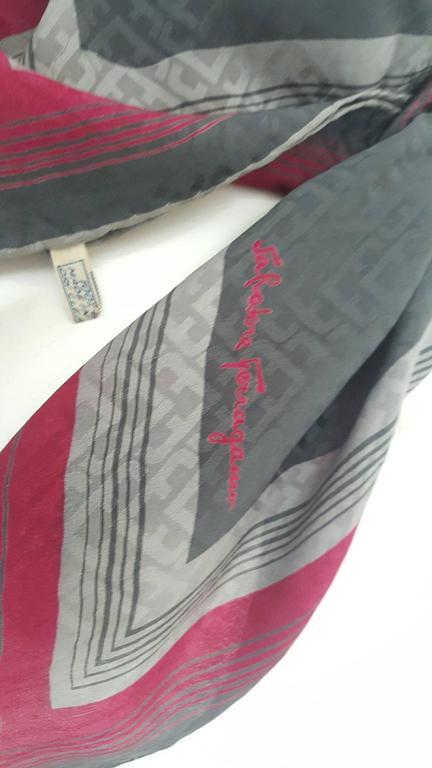 1990s Salvatore Ferragamo multicolour foulard   5