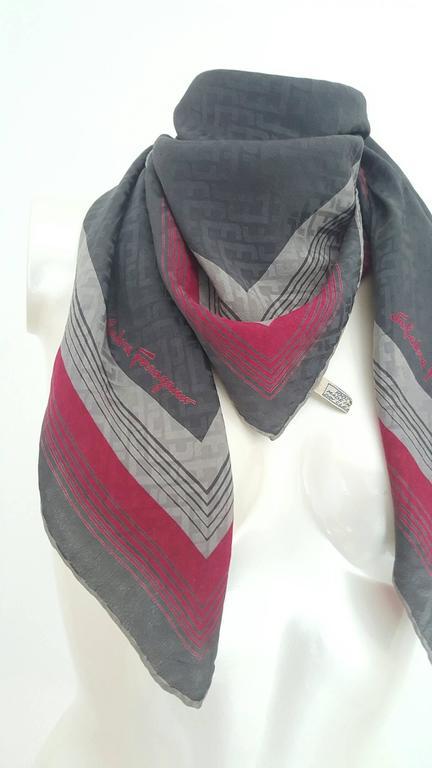 1990s Salvatore Ferragamo multicolour foulard   4