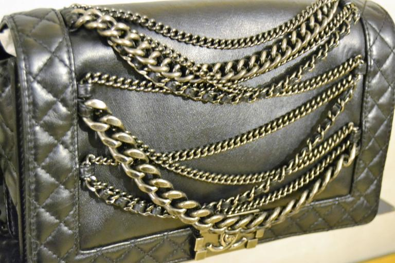 83400fac876667 2000s Chanel Boy multi chain lambskin bag This 2013 Cruise Collection Chanel  Boy in Black with