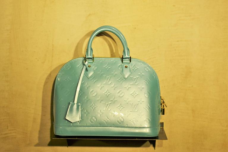 2000s Louis vuitton light green alma bag at 1stdibs