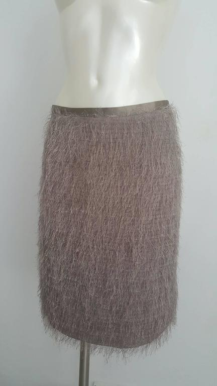 1990s Blumarine grey skirt NWOT In New never worn Condition For Sale In Capri, IT