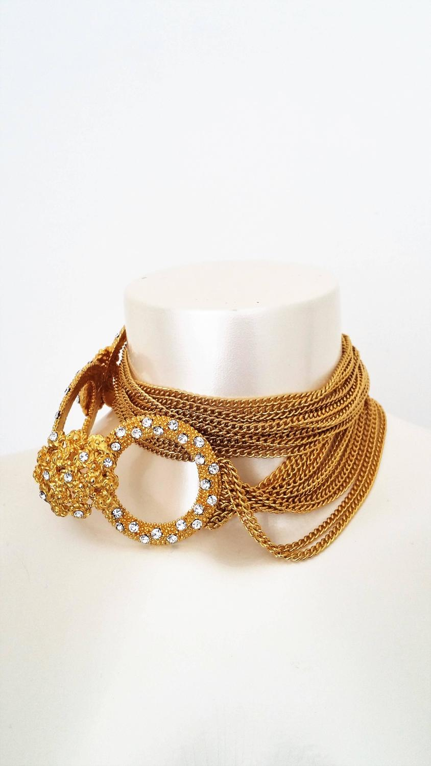 1960s multichain belt / necklace For Sale at 1stdibs