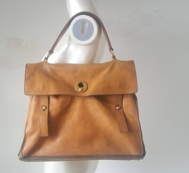 1980s Yves Saint Laurent Muse Brown Bag At 1stdibs