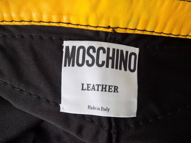 1993s Moschino Leather colour block Leather shorts 9