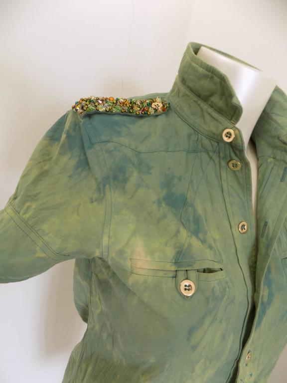 1990s Balenciaga Green shirt In New Never_worn Condition For Sale In Capri, IT