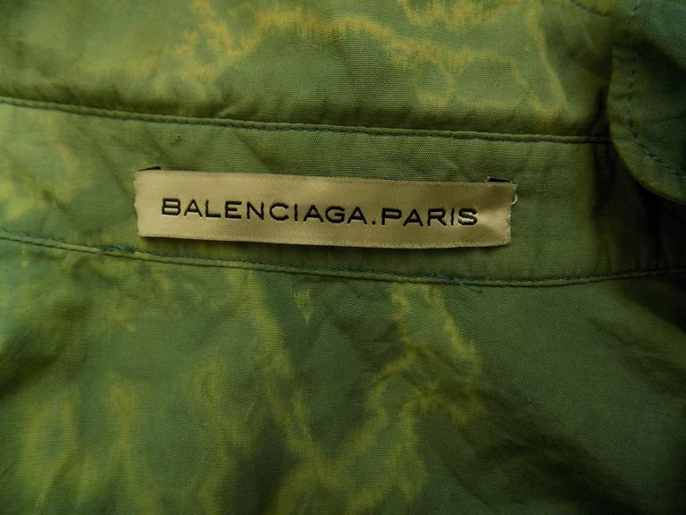 1990s Balenciaga Green shirt 5