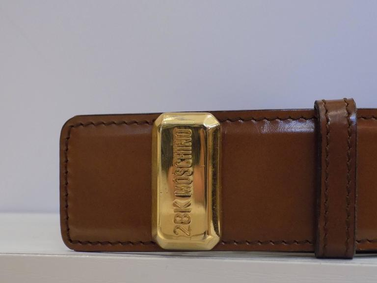 """Moschino """"28k"""" Brown Belt unworn  Totally made in italy in genuine leather size 44"""