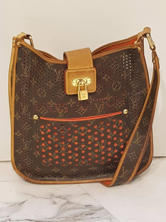 Brown 2006 Louis Vuitton Musette Perforated Bag For Sale
