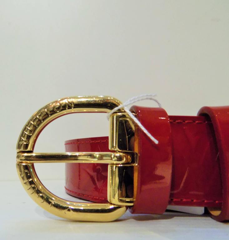 Louis Vuitton Red Belt At 1stdibs