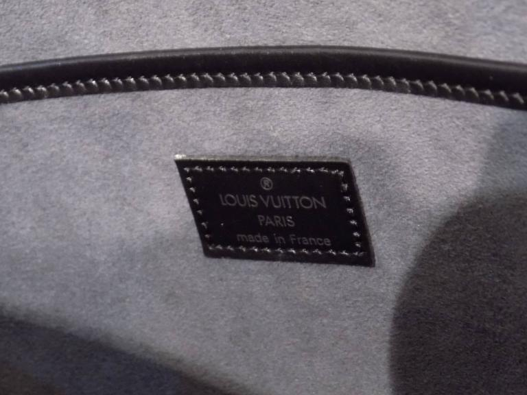 Louis Vuitton Black Epi Satchel For Sale 1