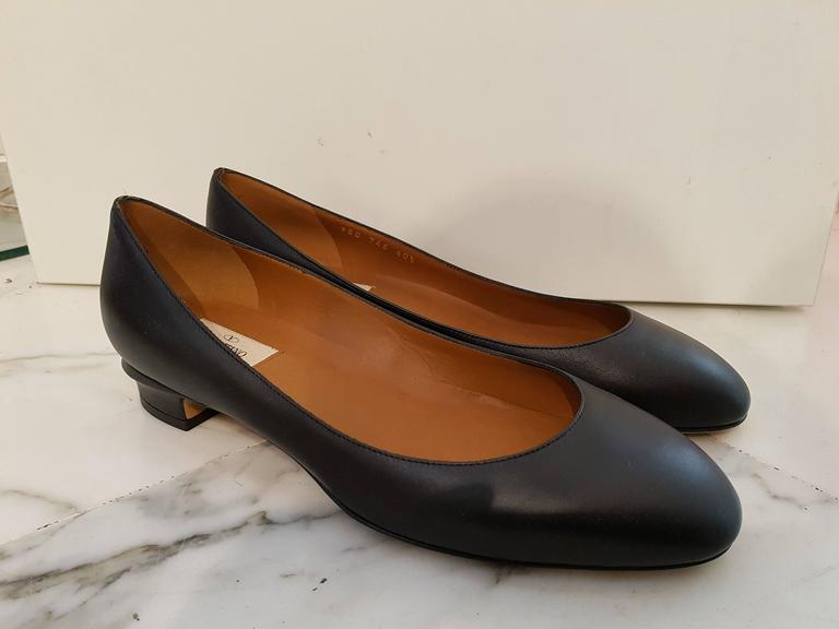 Valentino Black leather Ballerina NWT
