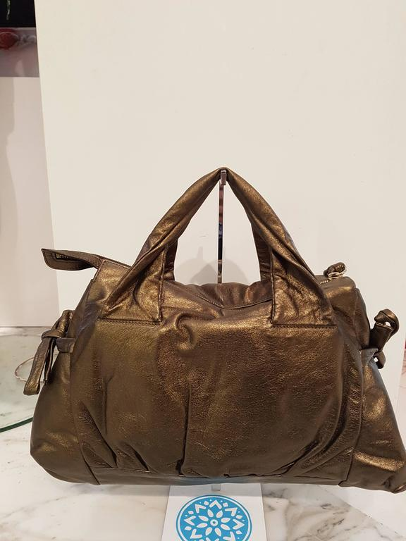 Brown Gucci Bronze Shoulder Bag For Sale