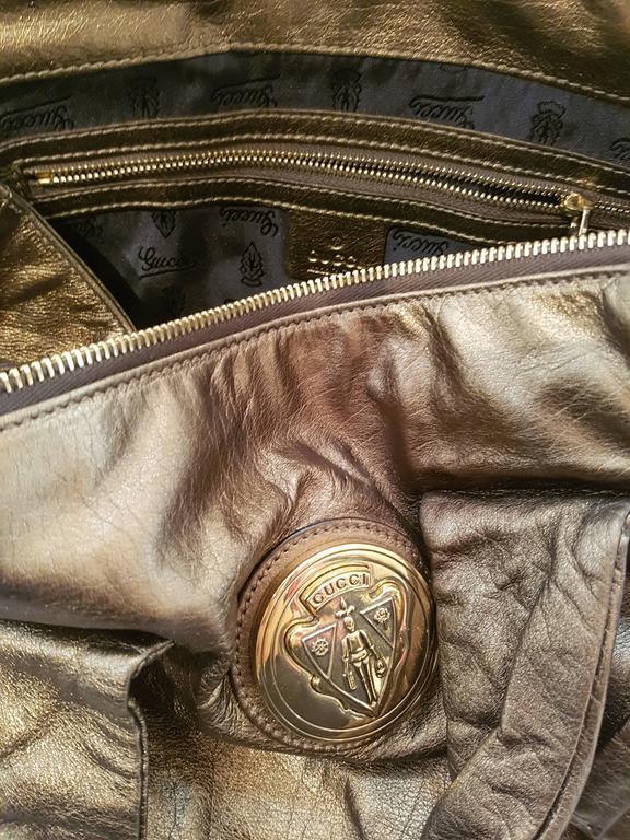 Gucci Bronze Shoulder Bag For Sale 1