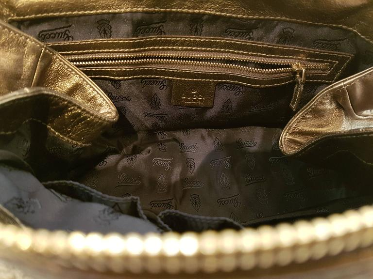 Women's Gucci Bronze Shoulder Bag For Sale