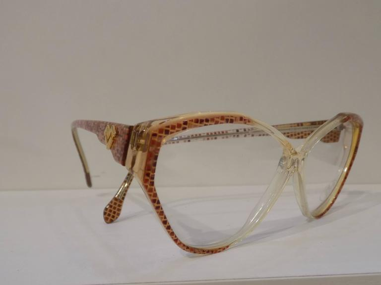 Brown Mario Valentino fram - glasses For Sale