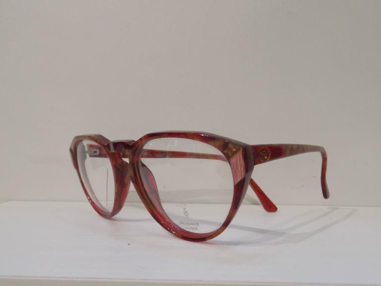 1990s Trussardi brown glasses frame In New Condition For Sale In Capri, IT