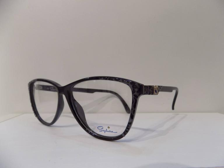 Gray 1980s Saphire frame - glasses For Sale