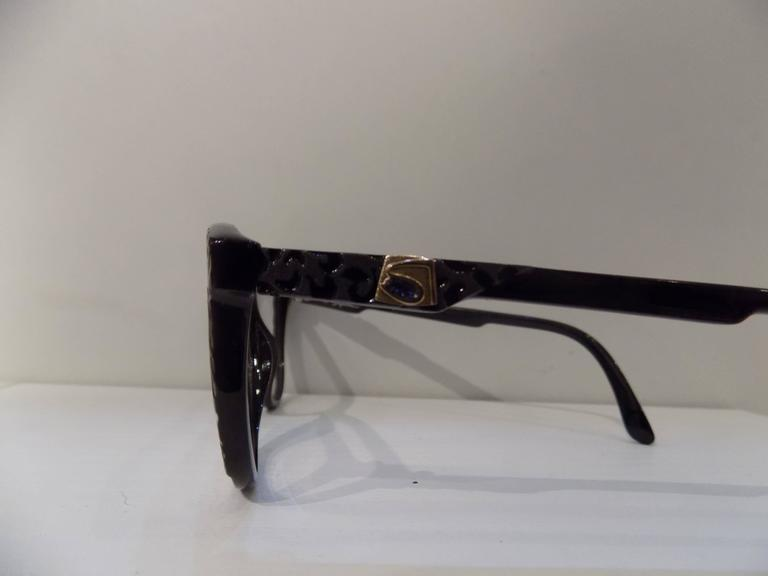 1980s Saphire frame - glasses In New Never_worn Condition For Sale In Capri, IT