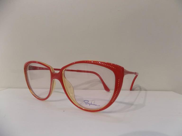 Gray 1980s Saphire frame- glasses For Sale