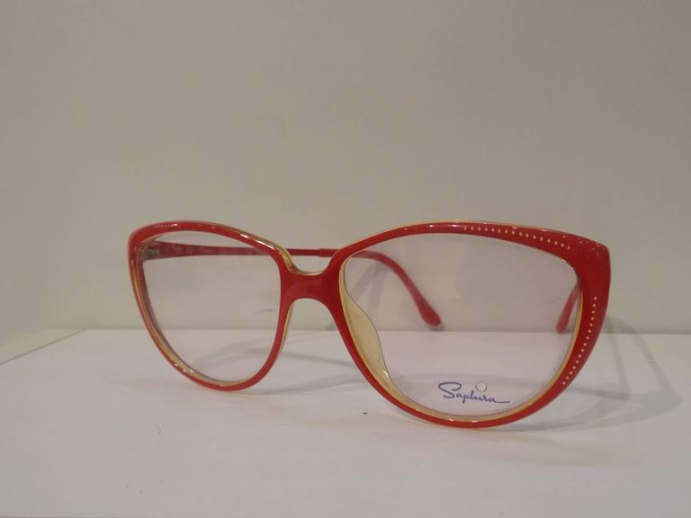 Women's or Men's 1980s Saphire frame- glasses For Sale