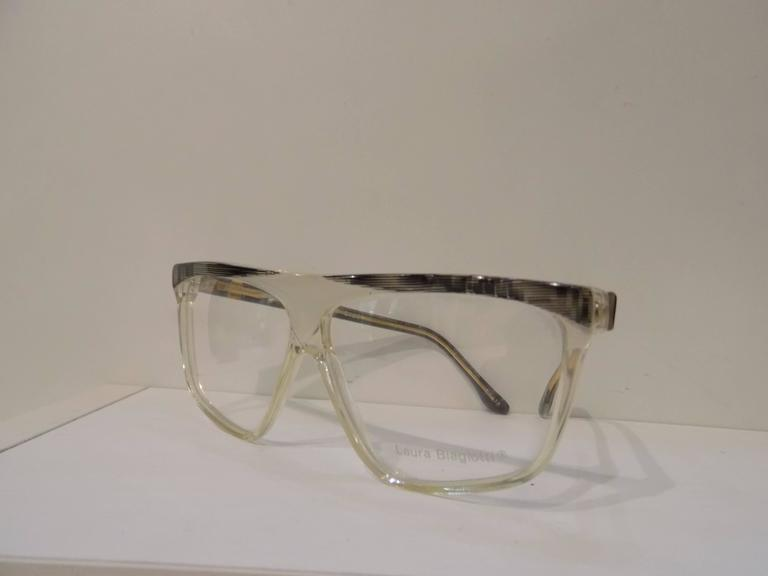 Gray 1980s Laura Biagiotti frame - glasses For Sale