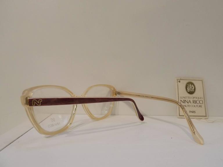 Brown 1980s Nina Ricci glasses - frame  For Sale
