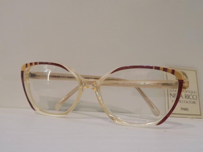 1980s Nina Ricci glasses - frame  In New Condition For Sale In Capri, IT